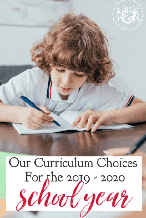 Here are our curriculum choices for the 2019-2020 school year as a MERLD Homeschool family and why we made the choices we have. #homeschool #homeschoolcurriculum #languagedisorder