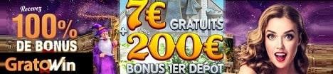7 EUR gratuits bonus