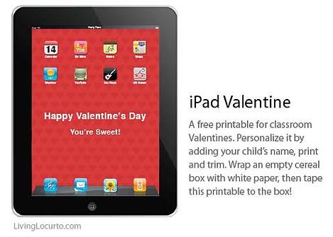 Free Printable iPad Valentine Box by Amy Locurto at LivingLocurto.com