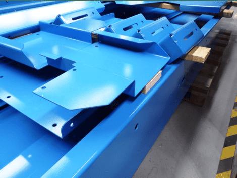 Image of blue metal
