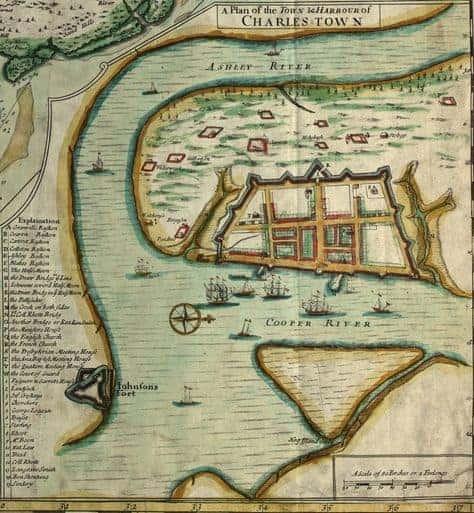 Charleston pirate map. Charleston ghost tours