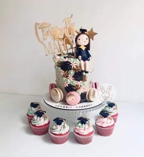 cuteOn Top of The World Cake, graduation cake design