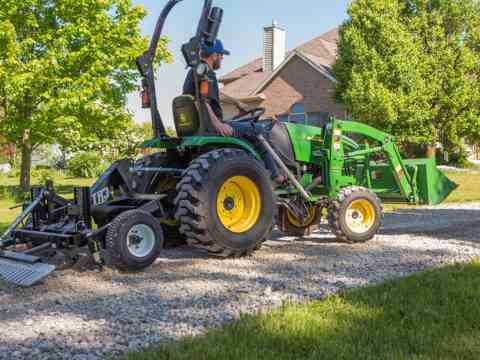 Small Tractor Tow Behind Gravel Driveway Grader