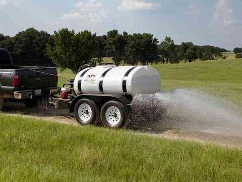 Truck 500 Gallon Water Trailer Dirt Road