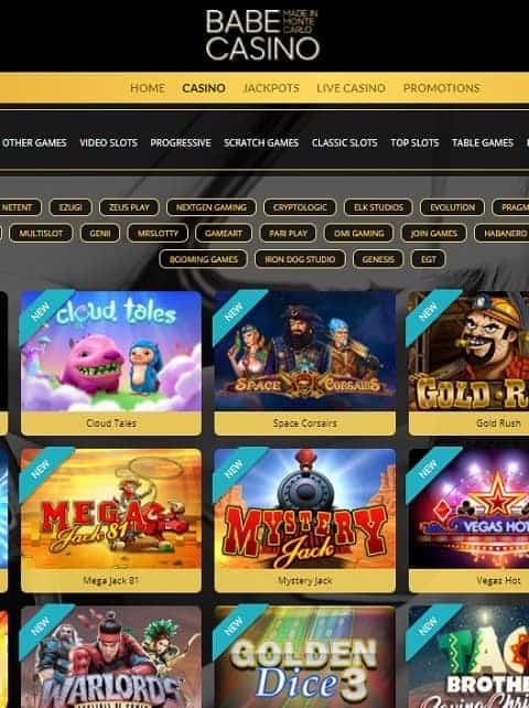 Babe Casino Online & Mobile - free spins bonus