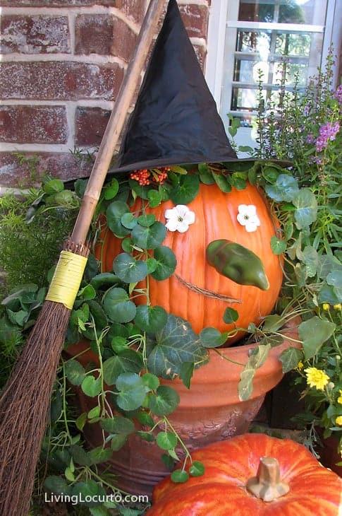 Halloween Witch Pumpkin | Easy Craft Idea | Living Locurto