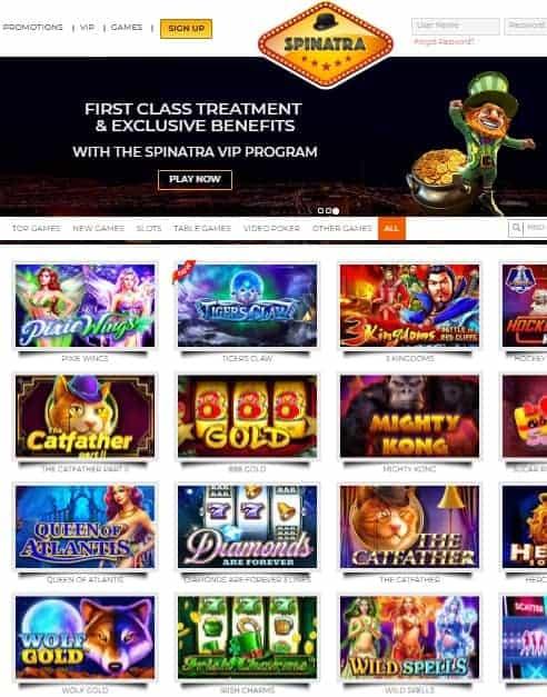 Spinatra Casino Review