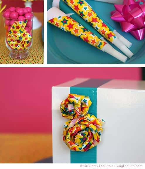Party Ideas - Decorating with Duct Tape by Amy Locurto at LivingLocurto.com