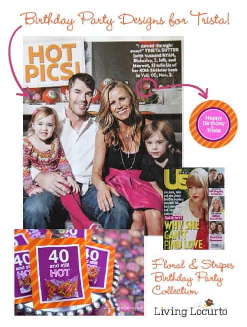 Trista Sutter 40th Birthday Party - Living Locurto Party Printable Designs