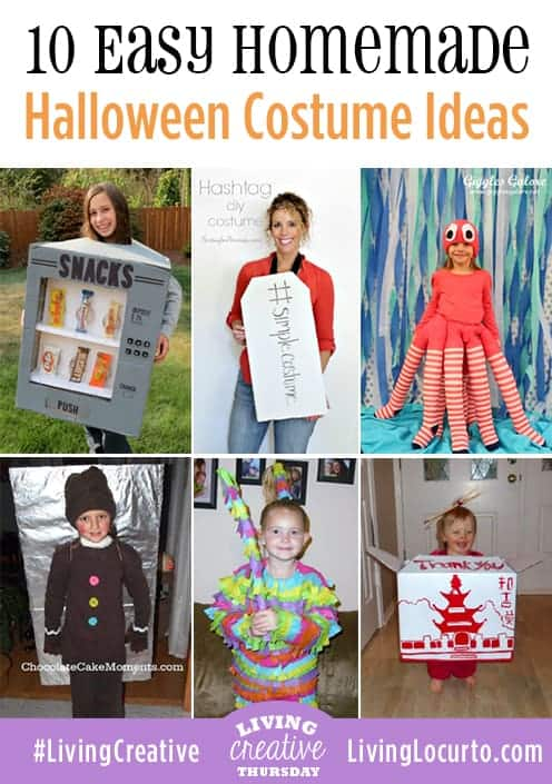 10 creative homemade costume ideas for adults and kids.