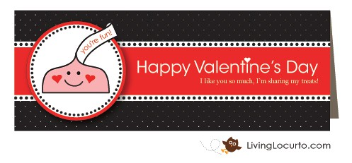 Candy Kiss Free Valentine's Day Printables LivingLocurto.com