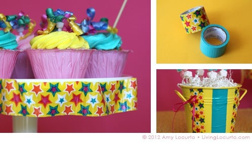 Party Ideas - Decorating with Duct Tape by Amy Locurto - LivingLocurto.com
