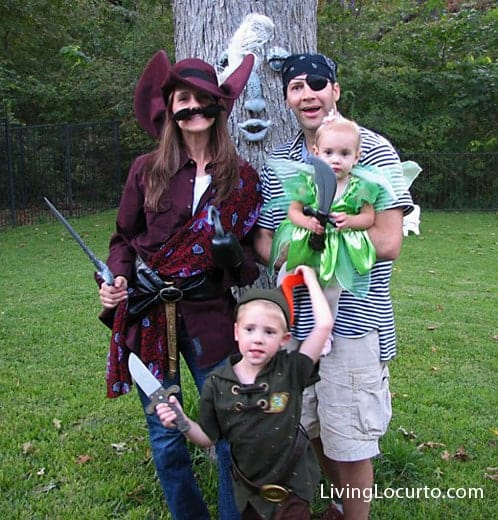 Peter Pan Family Themed Halloween Costume - LivingLocurto.com
