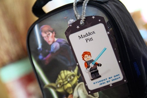 Free Printable Star Wars Lego Backpack and lunch box Tags - Back to School Free Printables