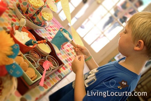 Cookie Bar & Bubble Birthday Party Ideas by Amy Locurto at LivingLocurto.com