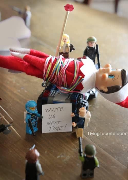 Elf on the Shelf Lego Ambush Idea - Living Locurto