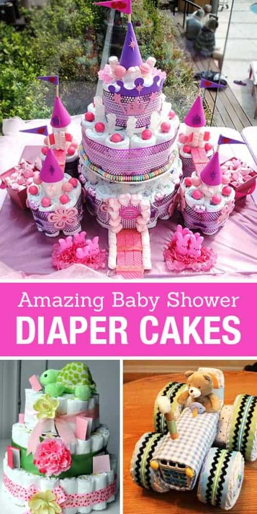 Amazing Baby Shower Diaper Cake Ideas! DIY homemade gift and party craft inspiration.