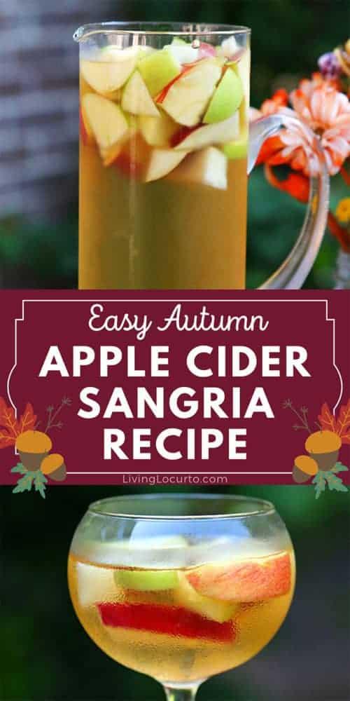 Apple Cider Fall Sangria Recipe Autumn Cocktail Drink