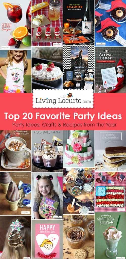 Top 20 DIY Party Ideas, Crafts and Recipes. LivingLocurto.com
