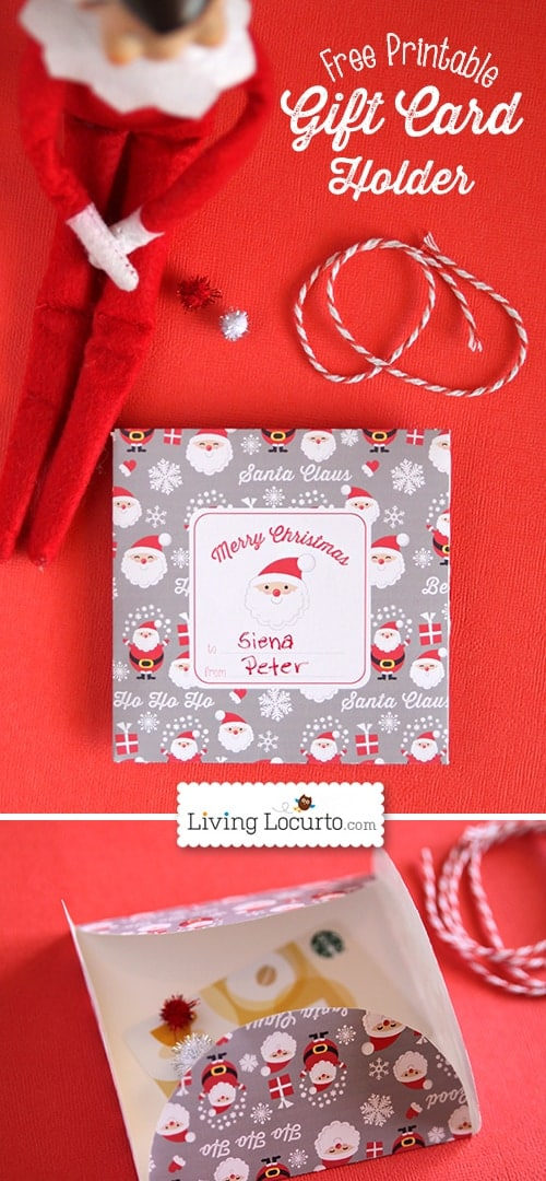 You'll love this cute Free Printable Gift Card Holder perfect for DIY Christmas gifts or a surprise from Santa.