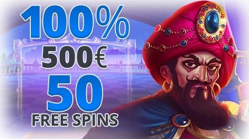 100% up to 500 EUR and 50 free spins