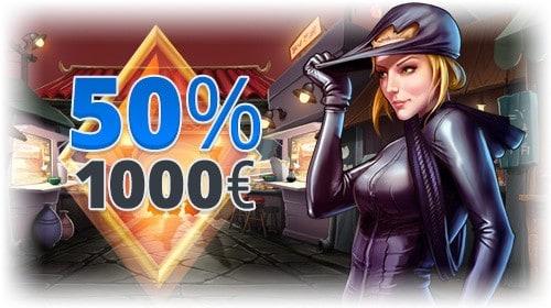 50% up to 1,000 EUR reload bonus