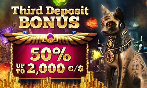50% welcome bonus up to 2,000 EUR
