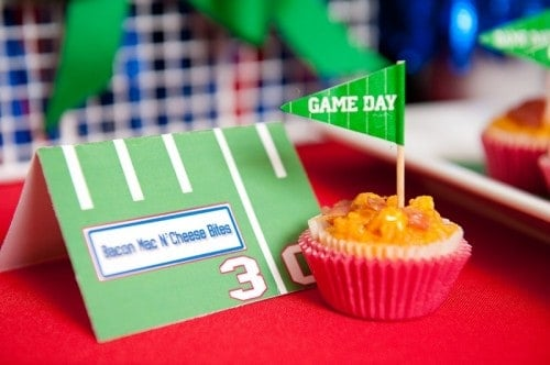 Super Bowl Football Party Ideas with Printables - Mac & Cheese