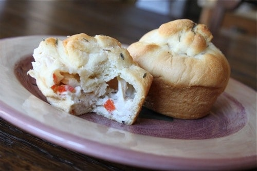 Cheese Chicken Muffins - How to make frozen chicken in the Instant Pot pressure cooker.