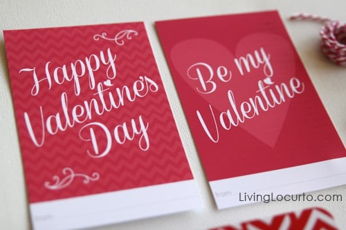 Valentine's Day Free Printables   Living Locurto   Project Life   Valentines Day Tags