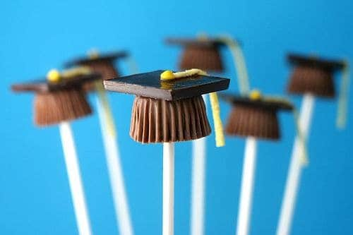 Graduation party hats cute food dessert by Bakerella