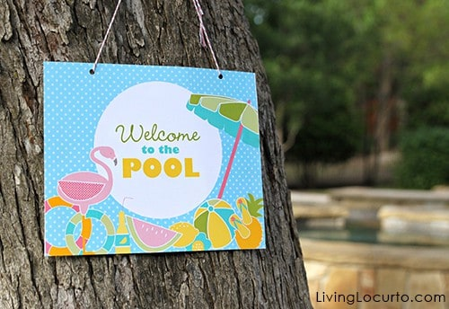 Pool Party Ideas. Cute party printables for a swim party.