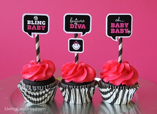 Baby Shower Free Party Printables by Amy at LivingLocurto.com