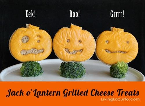 Halloween Jack o' Lantern Grilled Cheese Sandwich | Living Locurto