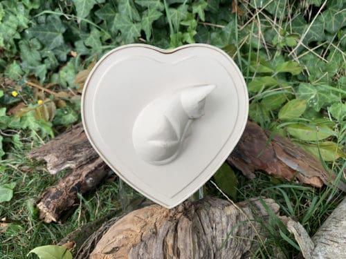 Herz Tierurne Katze komplettansicht