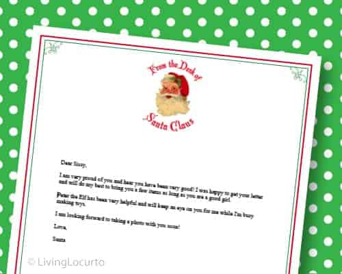 Free Printable Letter from Santa