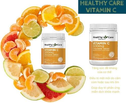 Vitamin C giúp tăng cường hệ miễn dịch, chống lại các bệnh cảm cúm, giảm stress...
