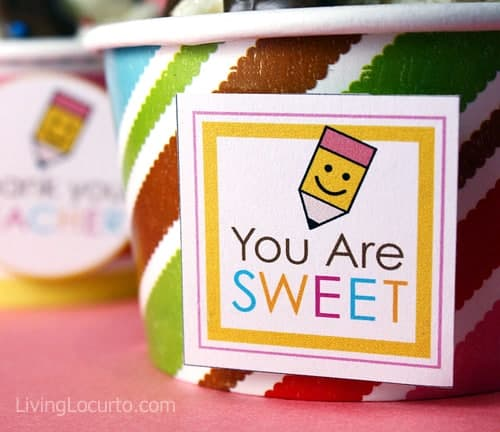 Teacher Appreciation Free Printable Tags - You are Sweet