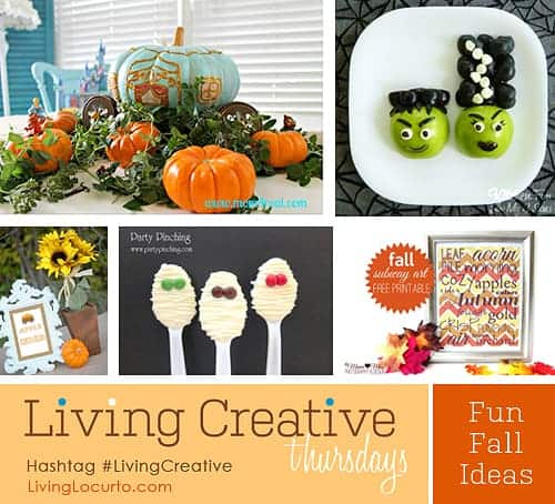 Fall and Halloween Ideas | #LivingCreative | Living Locurto | Free Party Printables