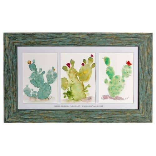 Fuzzy Balls- Cactus Watercolors ©Yakira Shimoni Fulks | Kiras Art and Poetry