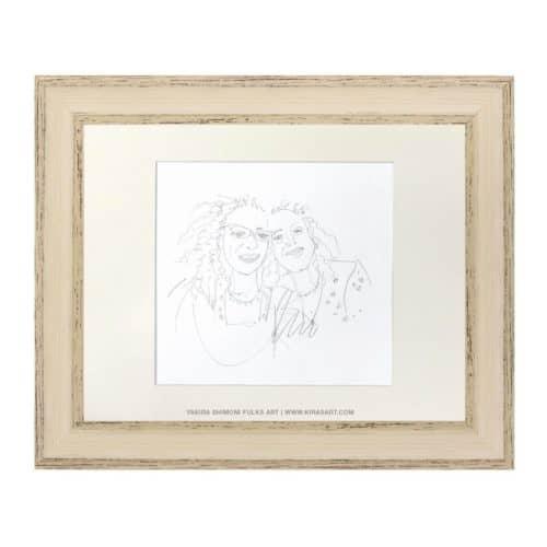 Best Friends-3-pencil ©Yakira Shimoni Fulks—Kiras Art and Poetry