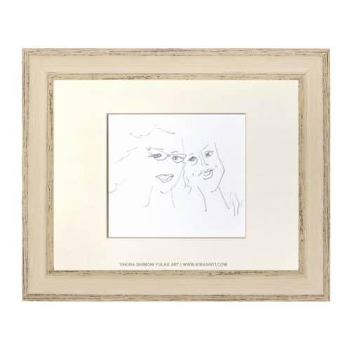 Best Friends1-pencil ©Yakira Shimoni Fulks—Kiras Art and Poetry