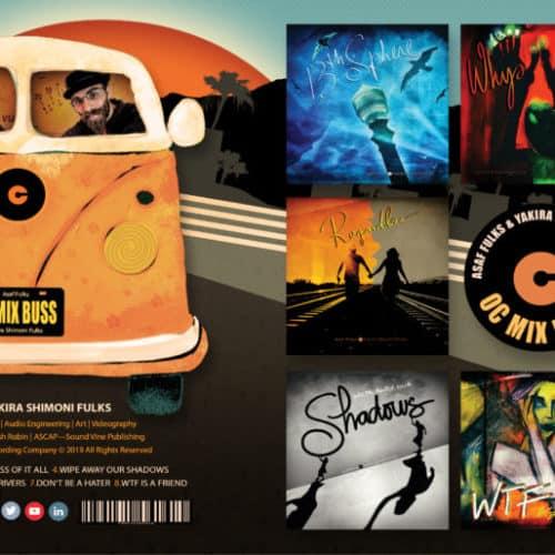 Asaf Fulks-OC MixBuss CD Cover ©Yakira Shimoni Fulks—Kira Art and Poetry