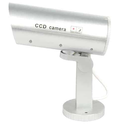Indoor/Outdoor Motion Activated Dummy Camera With Flashing Red LED Light Side View