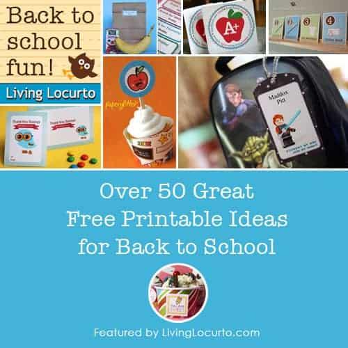 HUGE List of Back to School Free Printables at LivingLocurto.com