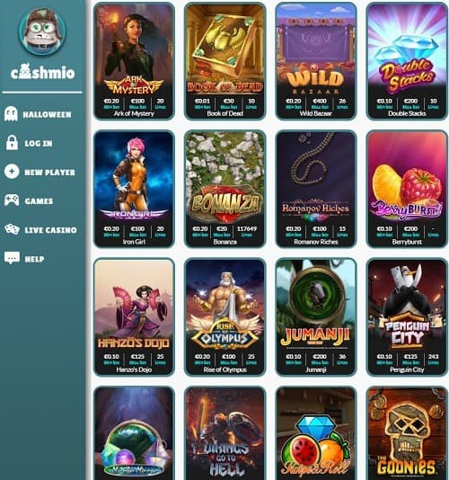 Cashmio Casino free spins bonus