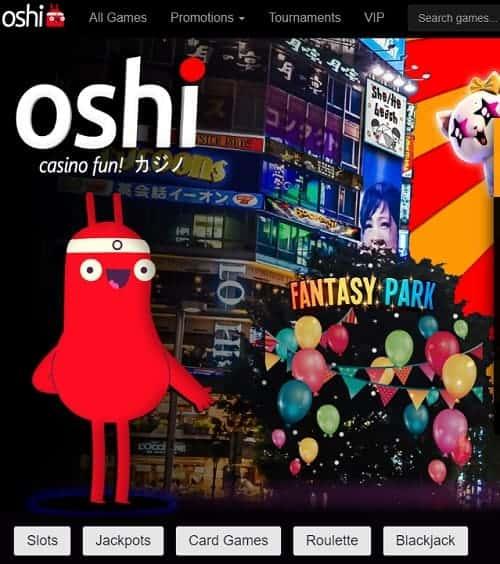 Oshi Casino free bonus