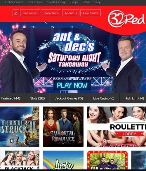 32red.com free spins bonus