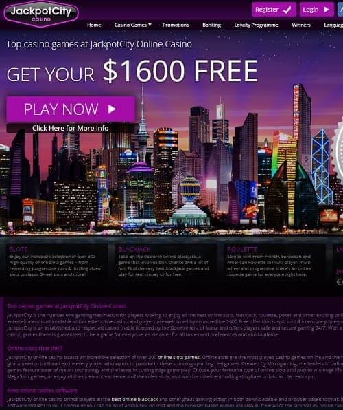 Jackpotcity casino Review