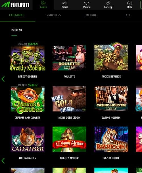 Futuriti Casino free spins bonus